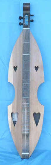 Rustic Violin shape Dulcimer by Robert Worth
